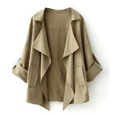 Sheridan Adjustable Sleeve Swing Jacket (€4,46) ❤ liked on Polyvore featuring outerwear, jackets, sleeve jacket, sheridan, swing jacket, trapeze jacket and brown jacket