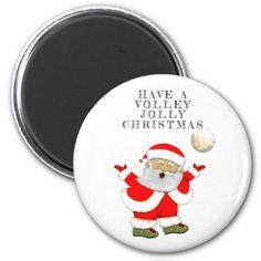 volleyball Christmas Magnet - Xmas ChristmasEve Christmas Eve Christmas merry xmas family kids gifts holidays Santa