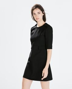 Image 3 of A-LINE DRESS WITH WAIST PLACKETS from Zara