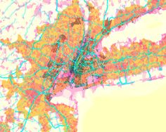 """There are all kinds of maps. """"prettymaps,"""" by Aaron Straup Cope, sees things in a different way. This is his map of the New York City area."""