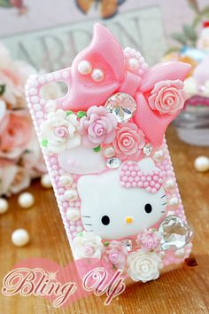 Hello Kitty I-Phone case. Cute Cases, Cute Phone Cases, Iphone 3, Iphone Cases, Decoracion Hello Kitty, Chat Hello Kitty, Kawaii Phone Case, My Favorite Color, My Favorite Things