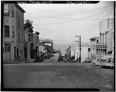 San Francisco's Telegraph Hill:  Union & Montgomery looking north (March 1940)