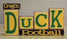 Oregon Duck Football Wood Blocks Set by TheBenchT on Etsy, $22.50