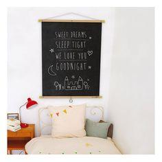 Roll up chalkboard