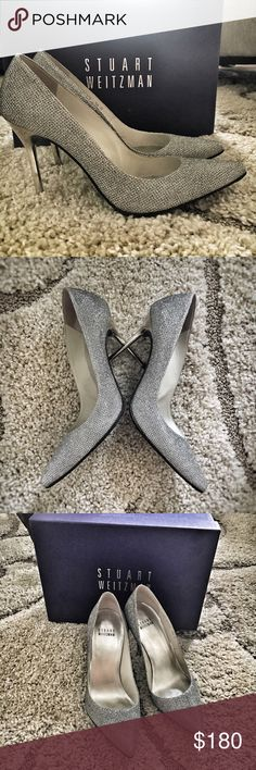 Stuart Weizmann Bridal and evening Heel This bling bling shoes are perfect for a evening out. Super shine! Only wear once. They are true to size so it's a little small for me (size 6, I hear heels usually should go half size down, but not apply to SW shoes) Stuart Weitzman Shoes Heels