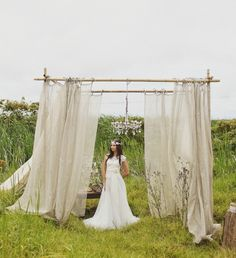 bamboo wedding canopy
