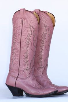 Tall Nocona pearl pink leather ladies by uniqueboutlque, $180.00