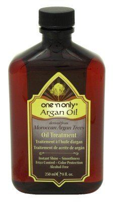 One n Only Argan Oil Argan Oil Treatment 8 oz. $15.95 - I swear by this stuff... put a dime size throughout damp hair then blow dry... apply a very small amount to fly aways once hair is dry... no need to flat iron!