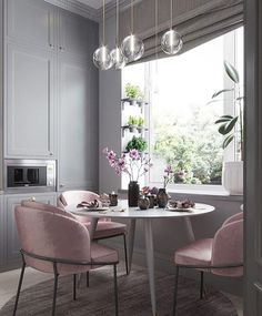 """17 Likes, 2 Comments - Beautiful Interior Inspiration (@interiorhomesgroup) on Instagram: """"Pink n grey- wow! I think I need to start a new project at home. KITCHEN!…"""""""