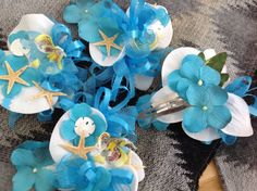 Seashell Orchid Hair Clips for Special by VictoriaGreenFlowers, $14.00