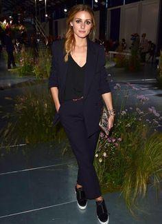 c0d64152762 Olivia Palermo wearing Tibi Cami in Black