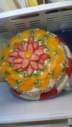 Fruit,almond & cream cheese