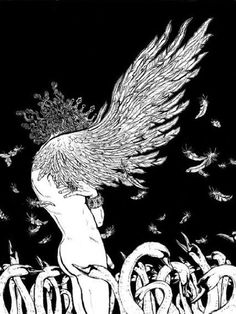 illustration by Yuko Shimizu from the book A Wild Swan: And Other Tales by Michael Cunningham - such a good collection of fairy tales with stunning illustrations Yuko Shimizu, School Of Visual Arts, Tinta China, Fairytale Art, Art And Illustration, Botanical Illustration, Fairy Tale Illustrations, Pics Art, Chinese Art