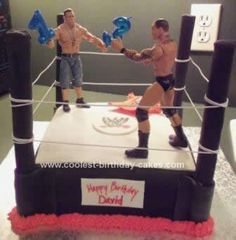 Homemade WWE Birthday Cake: I made this Homemade WWE Birthday Cake for my son's 13th birthday, it was a huge hit at the party! This was my second attempt to do a fondant cake, and