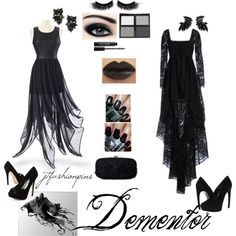 """Dementor Themed Outfit"" by jtfashionpins on Polyvore"