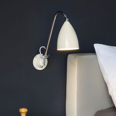 Astro Lighting 7251 Joel Grande Adjustable Wall Light in Cream and Chrome Interior Wall Lights, Interior Lighting, Lighting Design, Bedside Reading Light, Surface Art, Light Fittings, Light Decorations, Polished Chrome, Wall Sconces