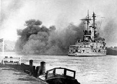 "- In the habor of Danzig , the German battleship "" Schleswig Holstein "" open`s fire , at a military fort , as the German`s attack`s Poland . Danzig, 1. September, Poland History, Invasion Of Poland, Man Of War, Big Guns, Battleship, France, Countries Of The World"