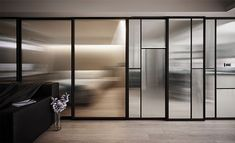 22 Ideas to Hide a Guest Bed - InteriorZine Steel Windows, Steel Doors, Windows And Doors, Partition Door, Glass Partition, Glass Design, Door Design, Long House, Traditional Doors