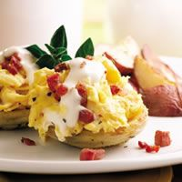 Artichoke and Scrambled Eggs Benedict