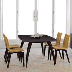 Saloom Furniture Kira Extendable Dining Table Finish: Harvest, Table Top: Strata Top