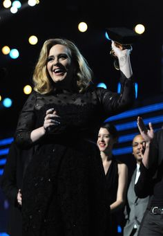 Adele won six awards at the 54th GRAMMYs in 2012, matching records set by Beyoncé and Eric Clapton and surpassing the late Amy Winehouse for the most wins by a female British artist in one night