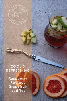 Bring 4 cups water & 1 cup raspberries to a boil. Add 2 rooibos tea bags, cover & steep for 10 mins. Strain into a large jug, pressing on solids. Stir in ¼ cup honey, refrigerate covered till cold. Add 1 cup ruby red grapefruit juice & 2 more cups chilled water, ice & more berries & grapefruit slices if desired. #EntertainingWithDianaCarmichael #Lovingthelifeyoulive #DesignerTables #AfricanStyle Summertime Drinks, Juice 2, Grapefruit Juice, Raspberries, Iced Tea, Ruby Red, 1 Cup, Diana, Honey