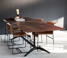 Leather Table, Design by VanGijs #leathertable