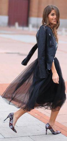 black tutu + leather jacket // from studio to street