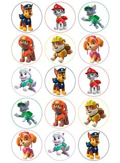 Cup cake toppers, stickers or Favors ideas Paw Patrol Cake, Paw Patrol Party, Paw Patrol Birthday, Imprimibles Paw Patrol, Paw Patrol Stickers, Sky E, Paw Patrol Decorations, Cumple Paw Patrol, Puppy Party