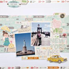 @Life.Paper.Scrapbook. September sketch challenge @October Afternoon Travel Girl