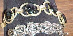 1950's Gold Metal Vintage Bracelet with Black by vintagecitypast, $39.95