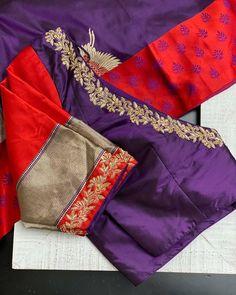 Blouse Back Neck Designs, Best Blouse Designs, Hand Work Blouse Design, Simple Blouse Designs, Stylish Blouse Design, Bridal Blouse Designs, Hand Embroidery Design Patterns, Designer Blouse Patterns, Pattu Saree Blouse Designs