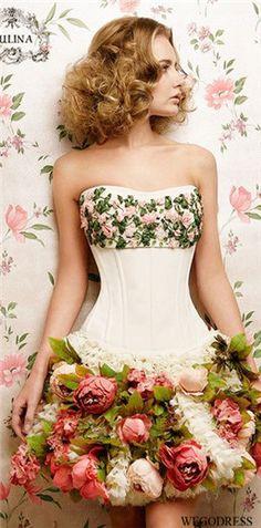 Flower corset dress tutu thingy