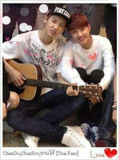 Chanyeol and kyungsoo