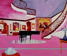 Dexter Dalwood The Liberace Museum 1998 oil on canvas x 183 cm - Saatchi Galery Dexter Dalwood, Saatchi Gallery, Traditional Paintings, Heart Art, Painting & Drawing, Painting Prints, Oil On Canvas, Illustration Art, Artsy
