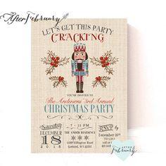 Nutcracker Invitation Christmas Party Invitation by AfterFebruary