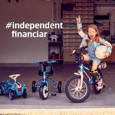 Despre independenţă financiară şi oameni fericiţi Tricycle, Motto, Baby Strollers, Bike, Gym, Children, Baby Prams, Bicycle, Young Children