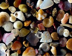 Grains of sand, magnified.  Wow.