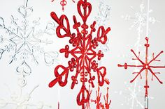 Christmas Decoration: Snow Flake Various Colors by CoolNook