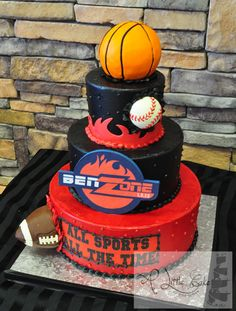Bar Mitzvah Sports Cake by A Little Cake in Park Ridge, NJ