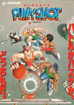 """コナミ「パンクショット」チラシ/Konami """"Punk Shot"""" Flyer #arcade #basket #retrogames"""