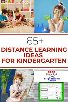 Many times teachers have to come up with distance learning resources for their classroom. Here are some great Distance Learning Resources for Kindergarten. Kindergarten Lesson Plans, Preschool Learning Activities, Homeschool Kindergarten, Learning Resources, Classroom Activities, Learning Tools, Preschool Ideas, Classroom Ideas, Online Classroom