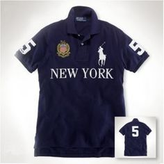 Ralph Lauren Darkblue Short Sleeved Men Polo