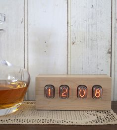 Vintage Nixie Wood Clock | Besides being easy-to-read and charmingly retro, the genuine v... | Clocks