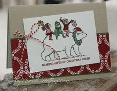 Snowy Moose Creations: Tags for 'Tis The Season - SU - Bearing Gifts, Christmas