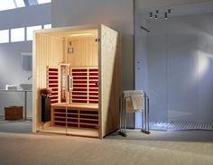 cabina a raggi infrarossi - infrarotkabine Infrarot Sauna, Steam Sauna, Sauna Room, Portable Sauna, Traditional Saunas, Wellness, Jacuzzi, Tall Cabinet Storage, Furniture