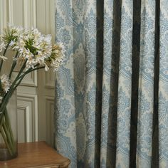 (Two Panels) Michelle Luxury® Jacquard European High Quality Energy Saving Curtain. Grab substantial discounts up to Off at Light in the box using Coupons. Cheap Curtains, Floral Curtains, Drapes Curtains, Drapery, Blue Pattern Curtains, Curtain Patterns, Buying Wholesale, Save Energy, Blue Flowers