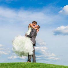 Bride + Groom Blue Skies