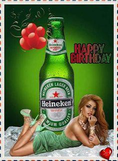 Happy Birthday Wishes Cards, Happy Birthday Girls, Birthday Blessings, Happy Birthday Images, Birthday Pictures, Man Birthday, Birthday Cards, Beer Photos, Beer Girl