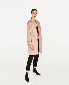 Image 1 of FAUX SUEDE COAT from Zara